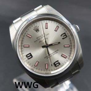 Rolex Airking 114200 Silver Dial (Pre-Owned Rolex Watch) RL-649