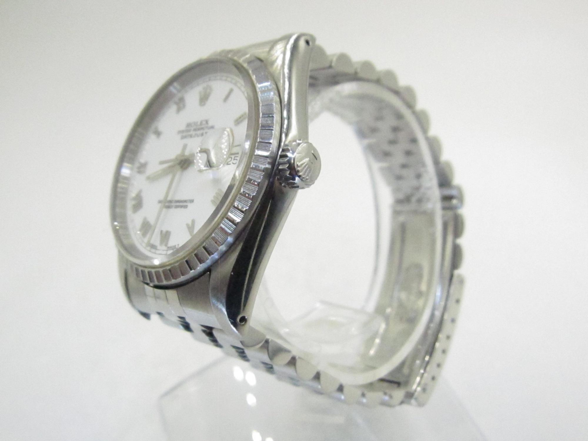 Rolex Datejust 16220 White Roman(Pre-Owned Rolex Watch)RL-370