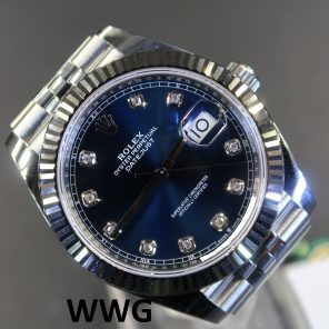 Rolex Datejust 2 41 126334 Blue Dial With 10 Diamond Index(New Rolex Watch)RL-535 (Cash Price)