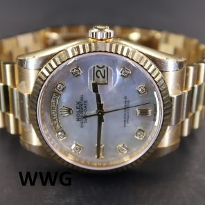 Rolex Day-Date President 118238 MOP With Diamonds (Pre Owned Rolex Watch) RL-519