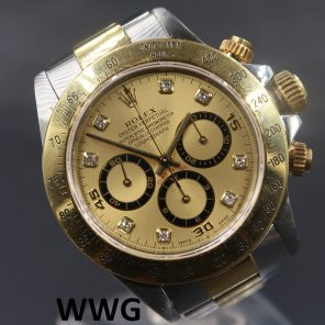 Rolex Daytona Cosmograph 16523 Champagne Dial Diamond Index(Pre Owned Rolex Watch)RL-644