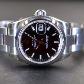 Rolex Lady-Datejust 179160 Black Dial (Pre Owned Rolex Watch)RL-449