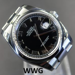 Rolex Datejust 116200 Black Dial(Pre Owned Rolex Watch)RL-554