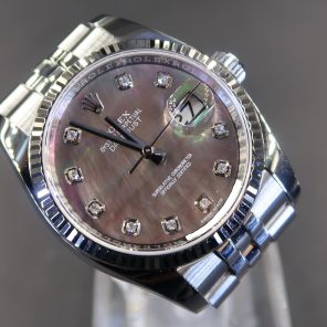 Rolex Oyster Perpetual Datejust 116234 Black MOP With Diamond Dial(Pre Owned Rolex Watch)RL-589