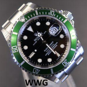 "Rolex Submariner Date 16610LV ""Kermit""(Pre Owned Rolex Watch)RL-585"
