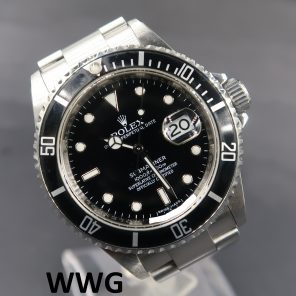 Rolex Submariner Date 16610LN With Chapter Ring (Pre Owned Rolex Watch) RL-697